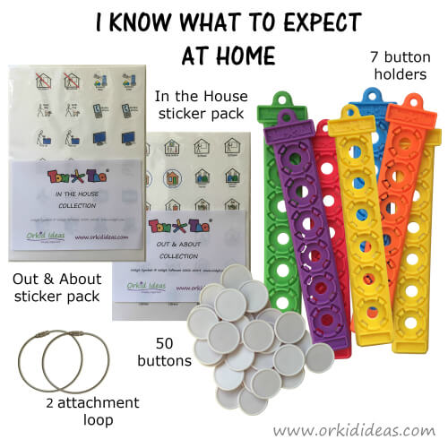 Tom Tags – I Know What To Expect At Home – Plus Multicoloured Lanyard from sensooli.com – v-tomtags-iknowathomes