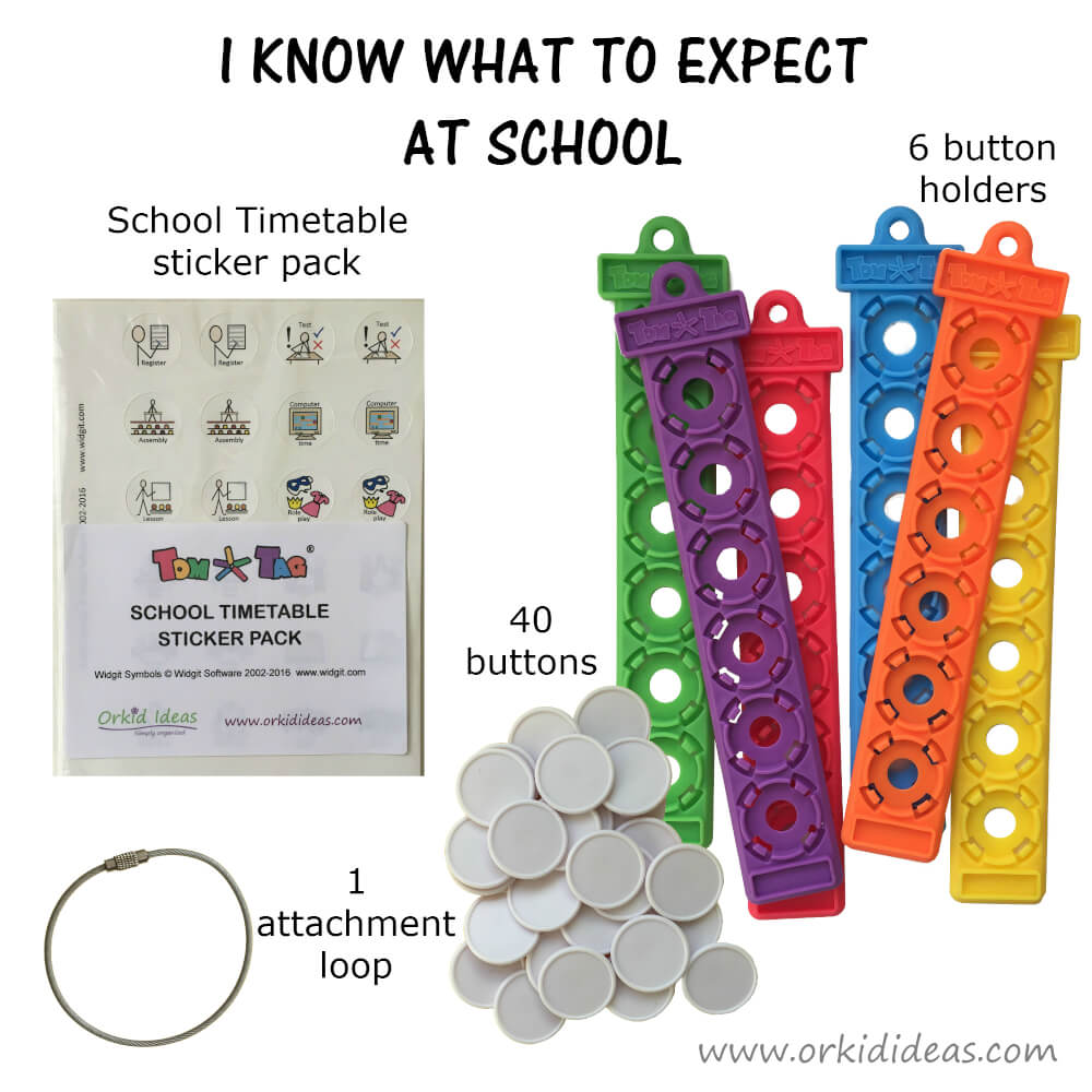 Tom Tags – I Know What To Expect – School – Plus Share How I Feel Tag from sensooli.com – v-tomtags-iknowwhat_school_sharefeelings