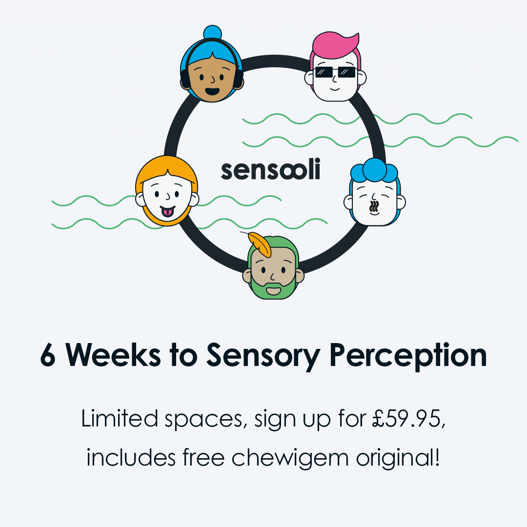 All the above is at a special introductory rate of £59.95 (40 credits) and includes a choice of Chewigem as your first sensory product